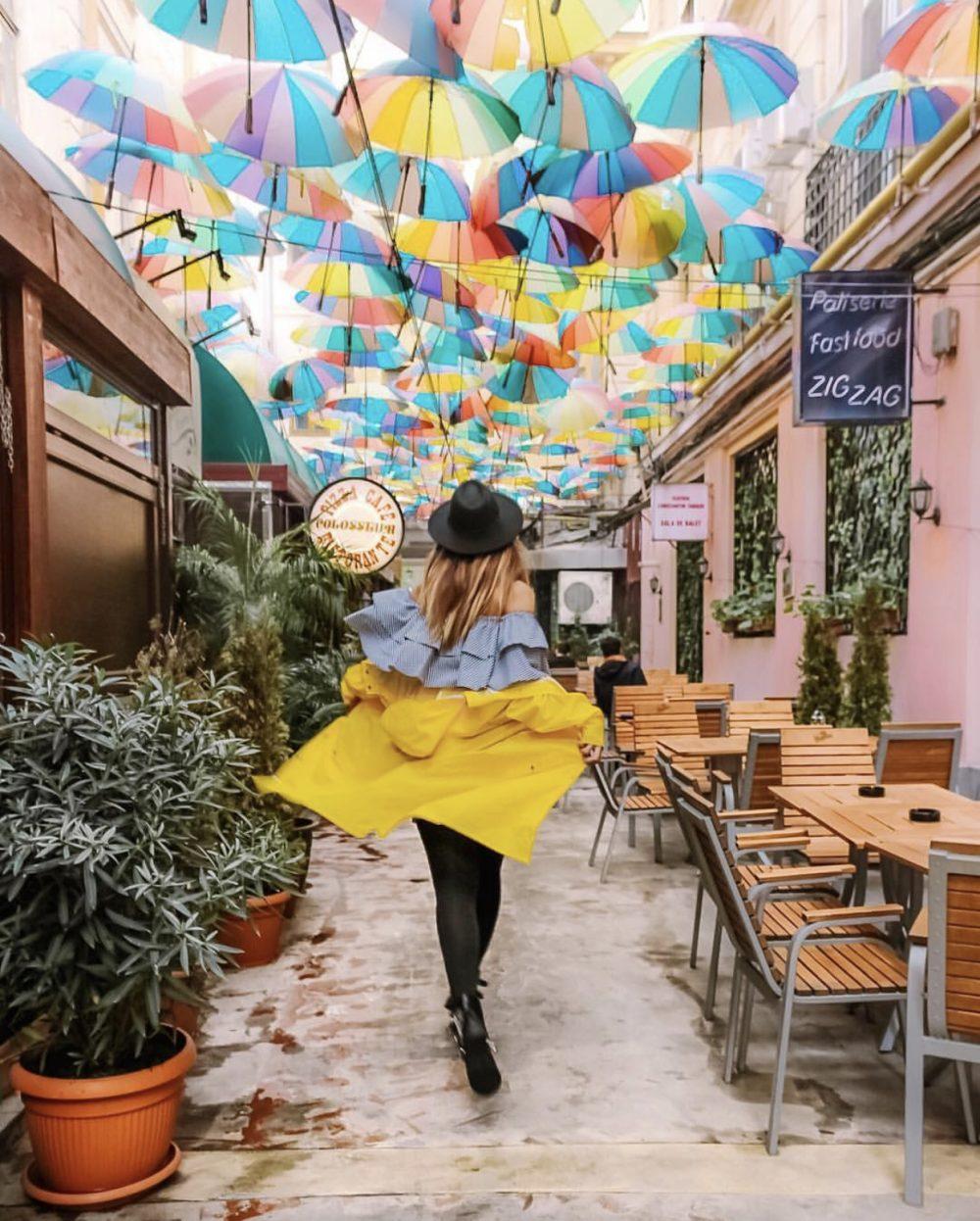 Calles Paraguas Colores Instagram