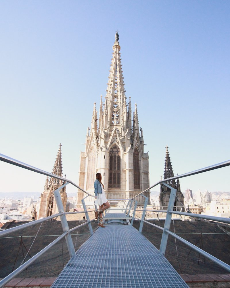 Barcelona Rooftop Cathedral