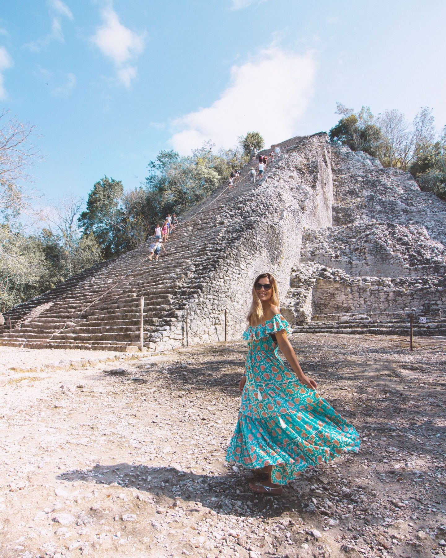 Pyramid Coba Mexico