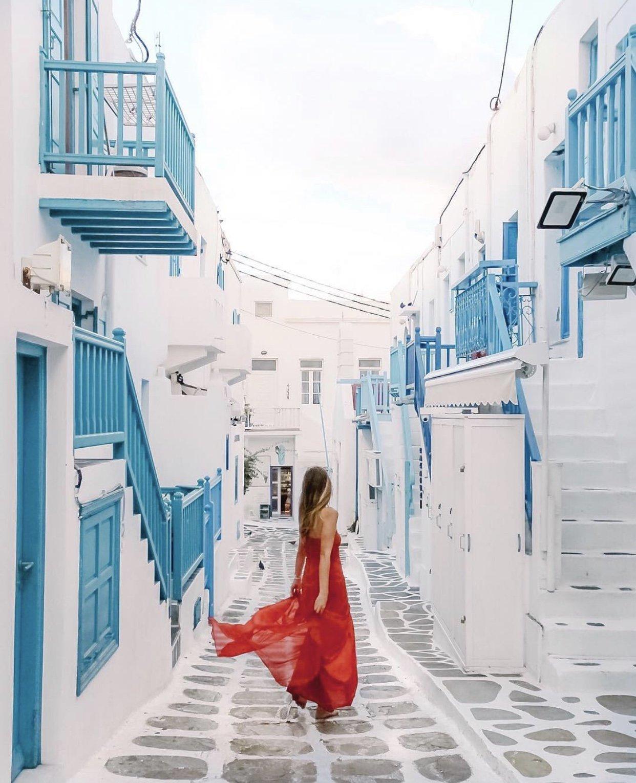 mykonos instagrammable streets