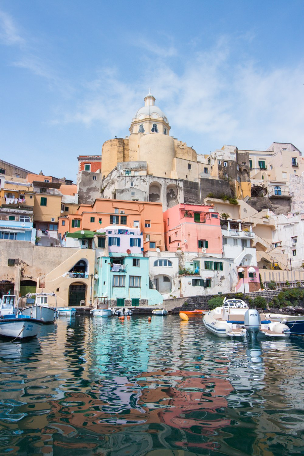 Procida from a boat