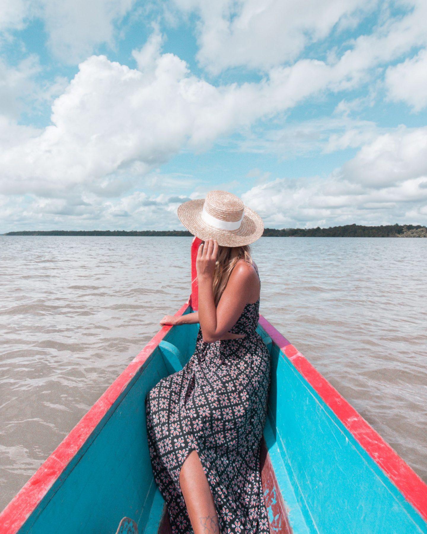 traditional pirogue French Guiana