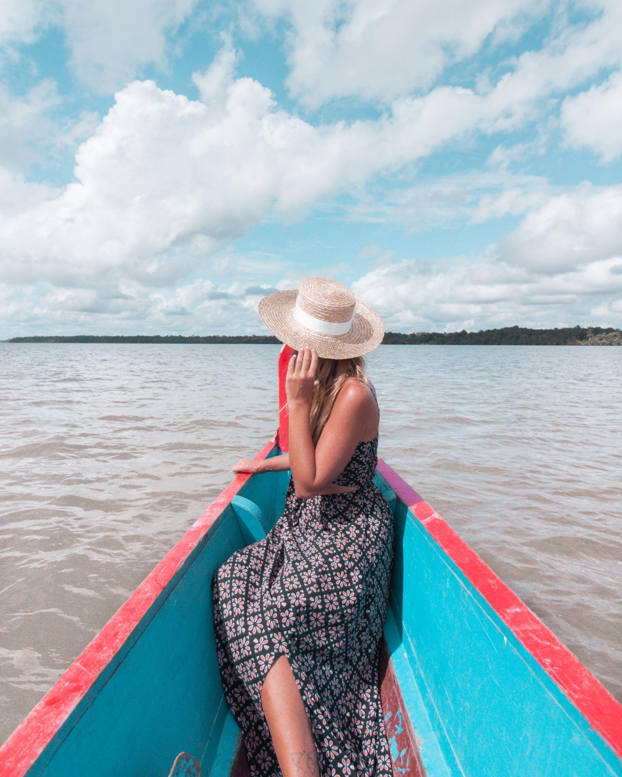 French Guiana pirogue