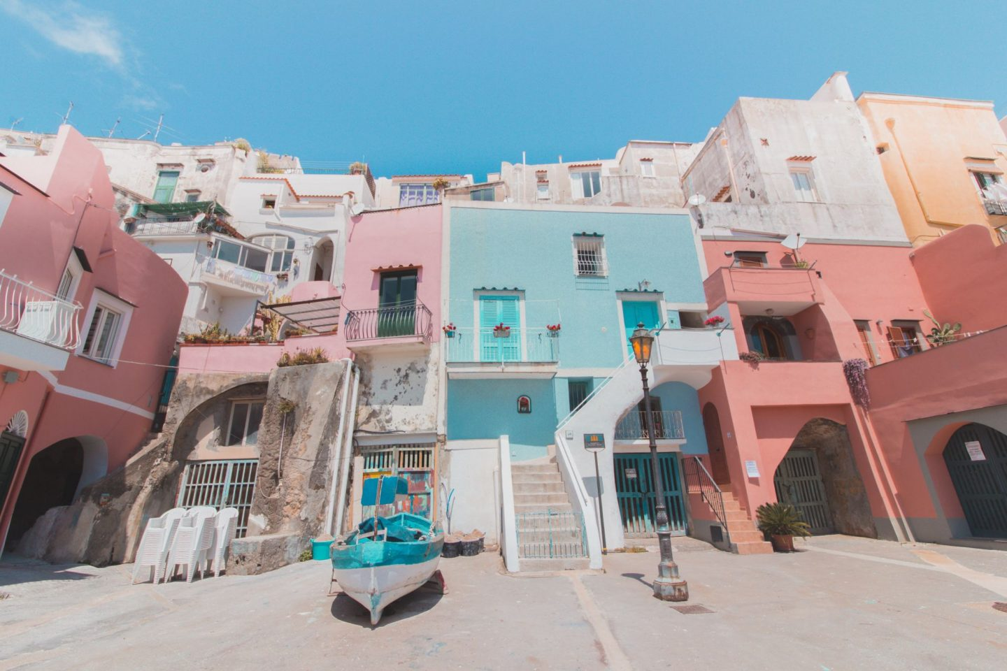 Colorful buildings in Procida