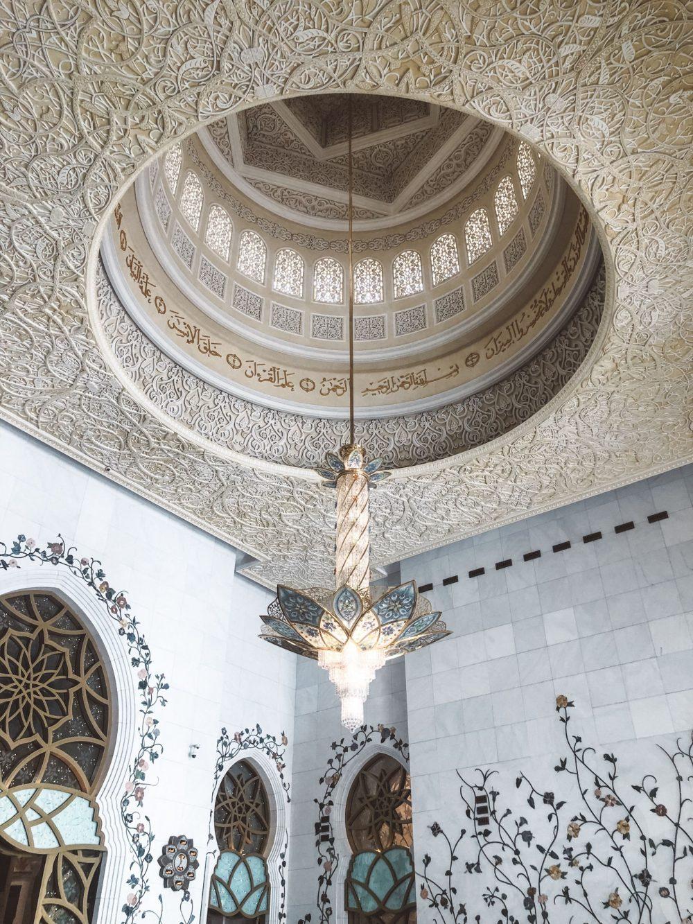 Chandelier Grand Mosque Abu Dhabi