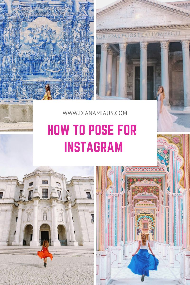 how to pose for Instagram pictures
