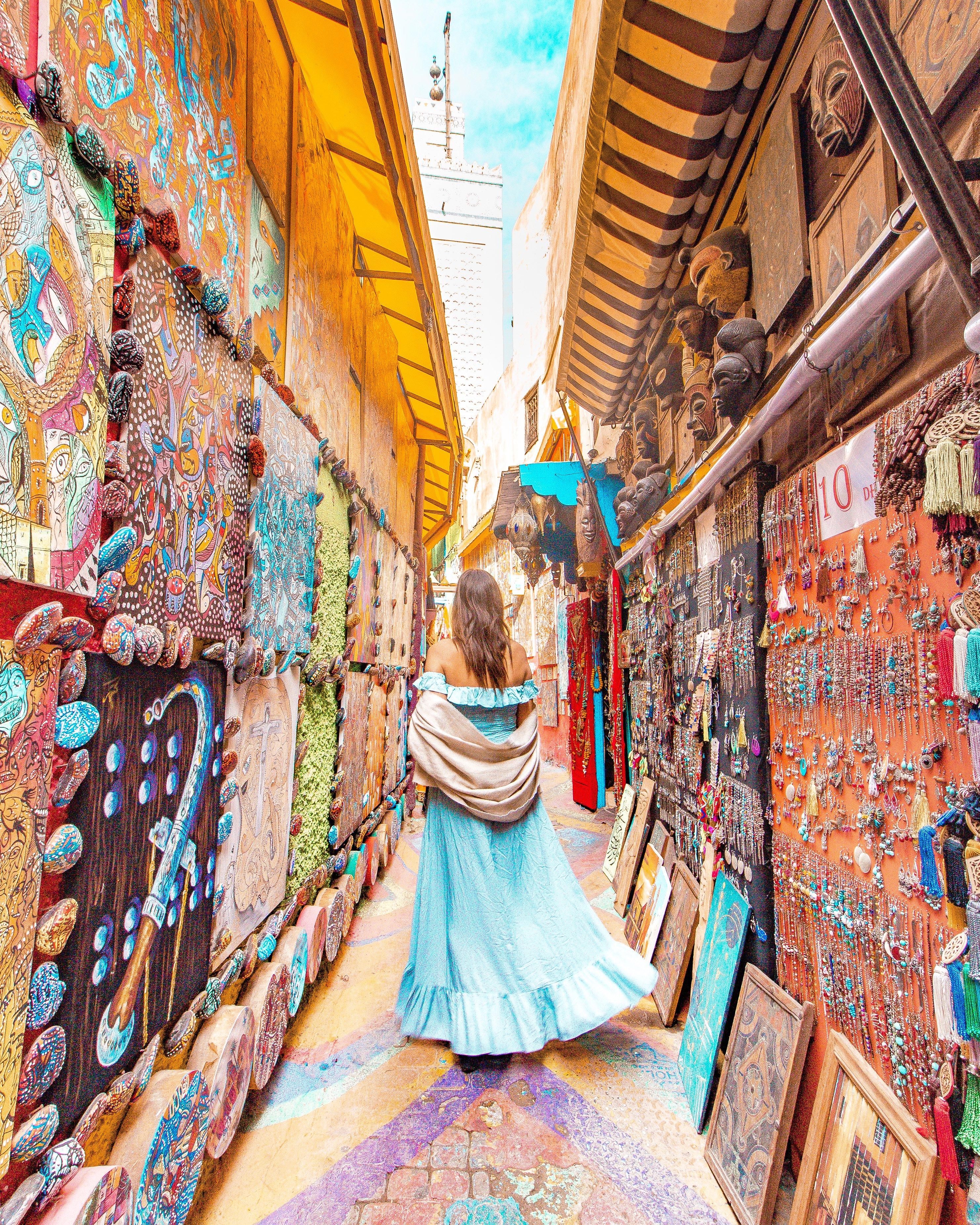 Rainbow street Fez